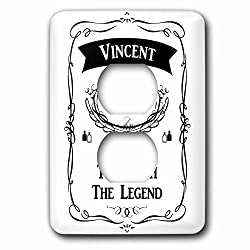 InspirationzStore The Man The Myth The Legend - Vincent The Man The Myth The Legend - personal name personalized gift - Light Switch Covers - 2 plug outlet cover (lsp_232379_6)