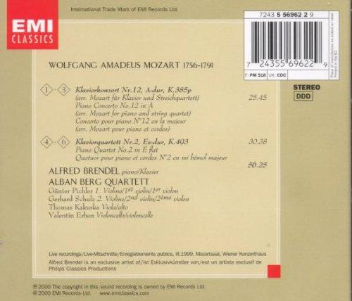 Mozart: Piano Concerto No. 12 / Piano Quartet No. 2, K. 414,493