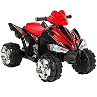 Kids Ride On ATV Quad 4 Wheeler 12V Battery Power Electric Led Lights and Music + FREE E - Book