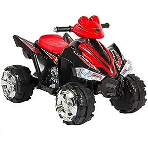 Kids Ride On ATV Quad 4 Wheeler 12V Battery Power Electric Led Lights and Music + FREE E - Book