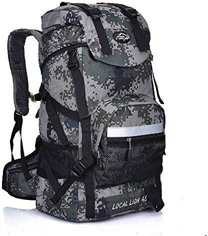 サイクリングバックパック ミリタリー防水ハイキングキャンプバックパックパッド入りバックサポート&クッション調整ストラップ (Color : Camouflage, Size : 50*34*24cm)