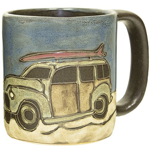 Woody Surf Wagon (Mara Stoneware Mug - Woody Surf Wagon 16 oz - New Fall 2015)