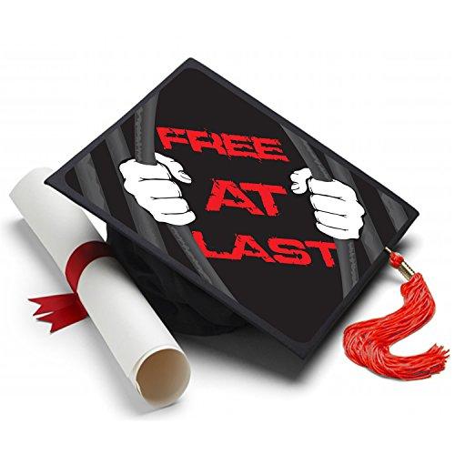 Tassel Toppers Free at Last Graduation Cap Decorated Grad Caps - Decorating Kits