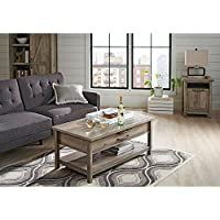 Better Homes and Gardens Lift-Top Coffee Table, Rustic Gray Finish