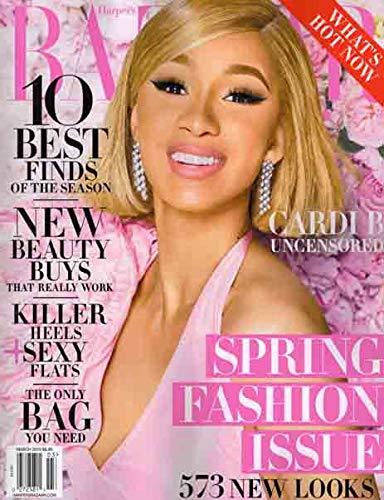 Harper's Bazaar Magazine (March, 2019) Cardi B Cover
