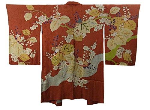 アンティーク 羽織 桐花模様 裄63cm 身丈93cm 正絹