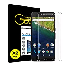 [2 Pack] Huawei Google Nexus 6P Screen Protector, Nearpow [Tempered Glass] Screen Protector with [9H Hardness] [Crystal Clear] [Easy Bubble-Free Installation] [Scratch Resist]