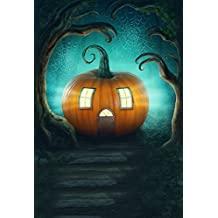 Yelewen 5x7ft Spooky Halloween Pumpkin House Cobweb Silk Photography Backdrops Indoor Studio Customized Digital Printed Backgrounds Photo Props