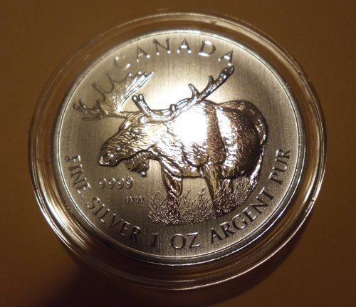 2012 Canada Canada 1 oz Silver Wildlife Series Moose $5 Perfect Uncirculated