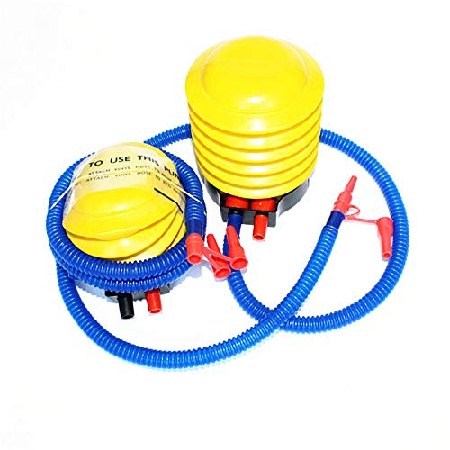 aXXcssqw9b Air Pump Swimming Ring Inflatable Tub Toy Balloon Inflating Tool,Foot Step Type Yellow Blue