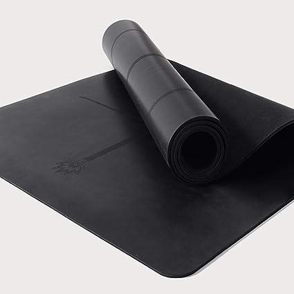 Amazon.com: Alfombrilla de goma natural para yoga, línea ...
