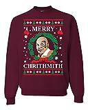 Wild Bobby Merry Chrithmith Mike Tyson Ugly Christmas Sweater Unisex Crewneck Sweatshirt, Maroon, Large