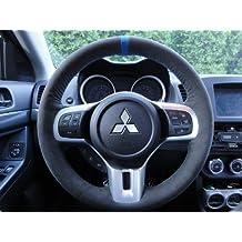 Mitsubishi Lancer Evo X 2008-15 steering wheel cover by RedlineGoods