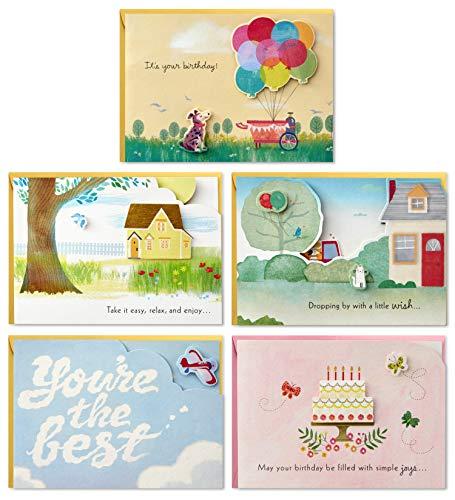 - Hallmark Paper Wonder Pop Up Birthday Cards Assortment (5 Cards with Envelopes)
