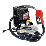 Goplus New Electric Diesel Oil Transfer Pump 110V Fuel Manual Nozzle Hose w/ Meter