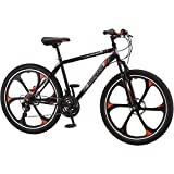 21-speed Shimano Revo twist shifters 26'' Mens Mack Mag Wheel Bike, Black and Orange