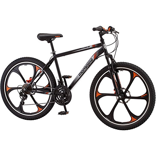 21-speed Shimano Revo twist shifters 26'' Mens Mack Mag Wheel Bike, Black and Orange by ..Mongoose..