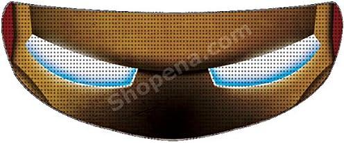 Ironman motorcycle helmet _image3