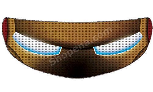 SkullSkins Iron Man Universal Full Face Motorcycle Helmet Windscreen Graphic Visor Tint Shield Sticker Decal