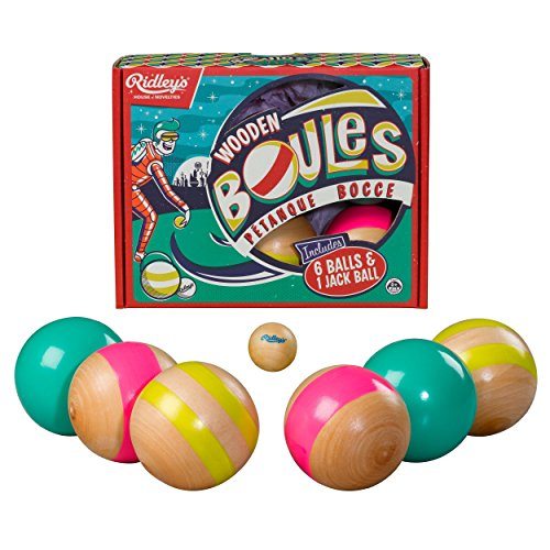 Wooden Bocce Balls - Ridley's Outdoor Wooden Boules (Bocce) Set