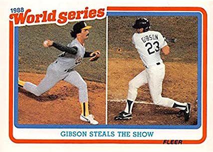 Kirk Gibson Dennis Eckersley baseball card (Los Angeles Dodgers ... 3e692c049f1