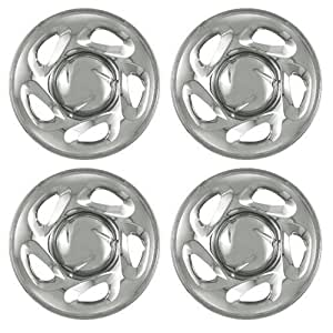 Set of 4 Chrome Wheel Skin Hub Covers With Center For 16x7 Inch 6 Lug Steel Rim - Part Number: IWCIMP/19X