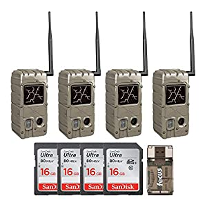 Best Epic Trends 51ua6h22-LL._SS300_ Cuddeback CuddeLink G Series Dual Flash 20MP Trail Camera (4-Pack) Bundled with Four 16GB SD Cards and USB 2.0 Card…
