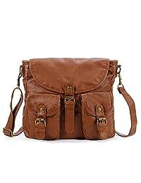 Scarleton Soft Washed Triple Flap Crossbody Bag H1828