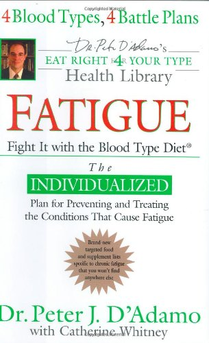 Download Fatigue: Fight It with the Blood Type Diet (Dr. Peter J. D'Adamo's Eat Right 4 Your Type Health Library) PDF
