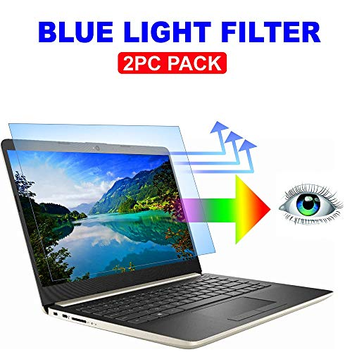 2PC Pack 14 inch Blue Light Blocking Laptop Screen Protector, Blue Light Filter for Notebook Computer Screen 14