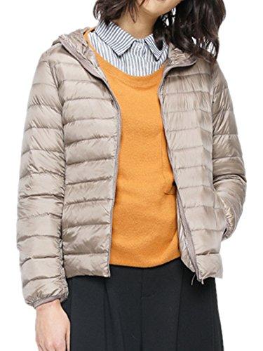 crazycatz - Abrigo - chaqueta guateada - para mujer Beige