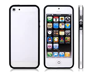 Dual Colores Diseño de TPU y de la PC del marco de protección para el iPhone 5S / 5 (Negro)