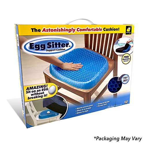 Egg Sitter Seat Cushion with Non-Slip Cover by BulbHead, Breathable Honeycomb Design Absorbs Pressure Points