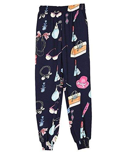 Stampato Tempo Donna Pattern Colour 10 Style Fashion Pluderhose Eleganti Libero Harem Estivi Festa Pantaloni Ragazze Pantaloni Sciolto High Waist Vintage Vita Elastica Hippie Pantaloni rWfIqIAY