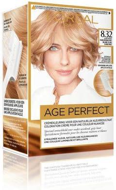 LOréal Paris Age Perfect Color Excellence Age Perfect 8.32 coloración del cabello Rubio - Coloración del cabello (Rubio, blond doré irisé, Bélgica, ...