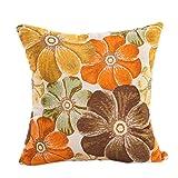 "43 X 43cm / 16.9 X 16.9"" Polyester Decorative Pillowcases,Woaills 1 PC Sofa Waist Cushion Cover (Yellow)"