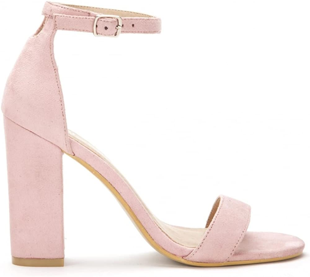 Ladies Baby Pink Barely There Strappy