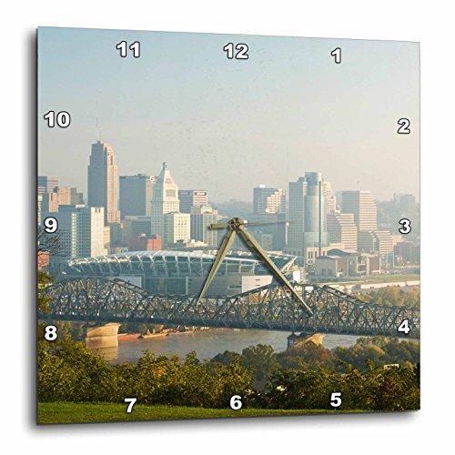 3dRose dpp_94134_3 USA, Ohio, Cincinnati Morning City View-US38 WBI0030-Walter Bibikow-Wall Clock, 15 by - Cincinnati Outlet Ohio