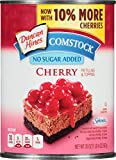 Comstock No Sugar Added Pie Filling and Topping, Cherry, 20 Ounce (Pack of 12)