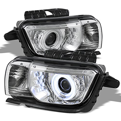 - For Chevy Camaro Chrome Clear Dual CCFL Halo Ring Design Halogen Type Projector Headlights Lamps Pair