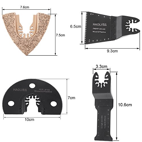 Wood Metal Oscillating Multi-Function Saw Blade Multi Tool Accessory(65mm) by Zerone (Image #2)