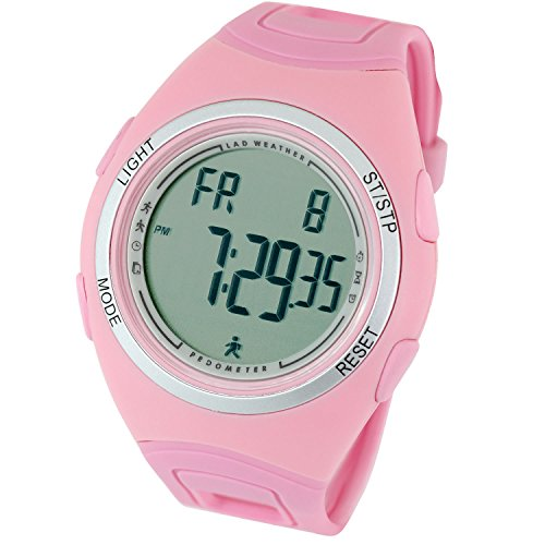 LAD WEATHER 3d Pedometer Exercise & Fitness Running Calorie Counter Running/Jogging/Walking sport watch Polyurethane Round Watch