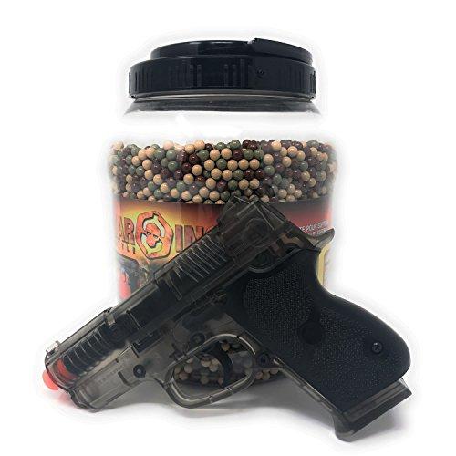 Airsoft BBs 12g 6mm 14000 Airgun BBs Included Bonus .45 Airsoft Pistol Spring Powered Handgun by WarINC Airsoft BBs