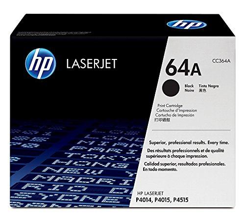 Hewlett Packard HP 64A LaserJet P4010, P4014, P4015, P4515 Series Smart Print Cartridge (10,000 Yield) , Part Number CC364A from HP