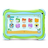 (US) Yuntab Q91 7 inch Android Kids Edition Tablet PC with Premium Parent Control Kids Software Pre-Installed Allwinner A33 Quad-core, 1+8GB, Duanl Camera, WiFi , Bluetooch tablet for kids (Green)