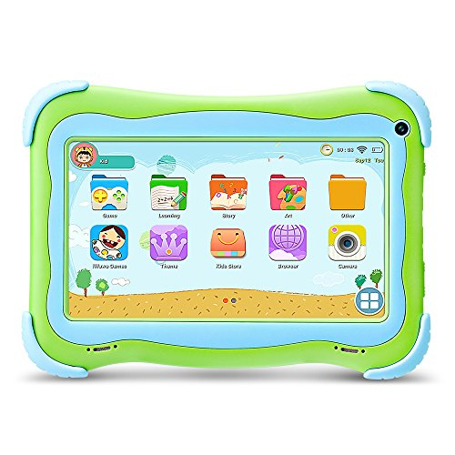 Yuntab Kids Tablet Q91 7 Inch Allwinner A33,1.3 Ghz Quad Core Google Android 5.1,Tablet PC,1G+8G,Dual Camera,WiFi,Bluetooth,G-Sensor,Support SD/MMC/TF Card,Parental Control Software (Green)