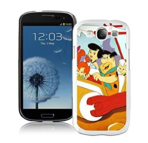 Flintstones Cartoon White Samsung Galaxy S3 i9300 Case,personalized design together with Excellent protection