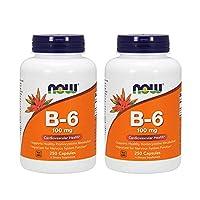 AHORA vitamina B-6 100 mg, 250 cápsulas (paquete de 2)