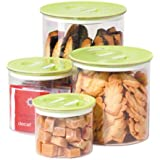 Oggi Stack 'N Store 4 Piece Canister Set, Green