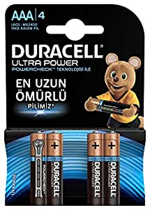 Duracell Lr03/Mx2400 Turbo Maksimum İnce Kalem Pil, 4'lü, AAA, Bakır/Siyah